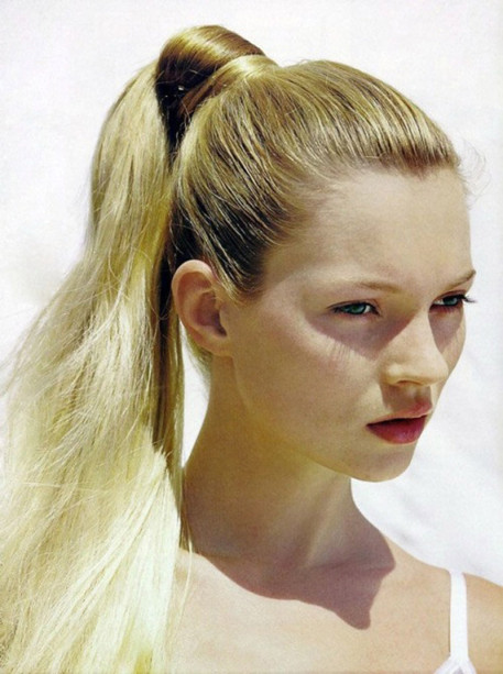 model,Kate Moss,ponytail
