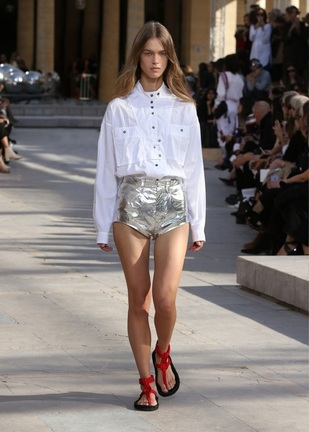 silver-metal- short-isabel marant-ss2016-collection
