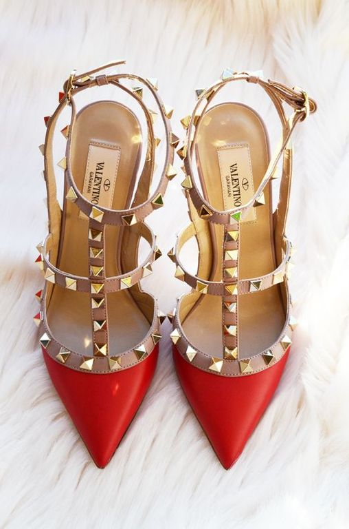 red valentino rockstud shoes